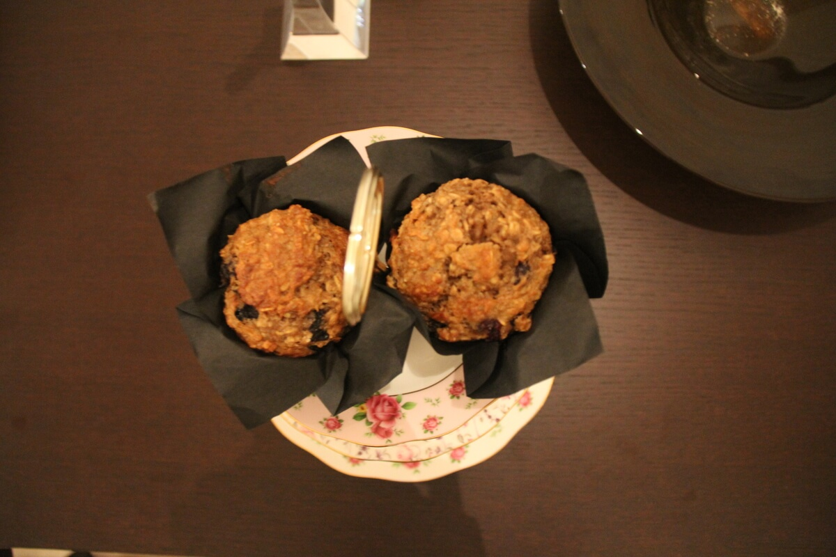 Blueberry & Banana Breakfast Muffins with Chia Seeds