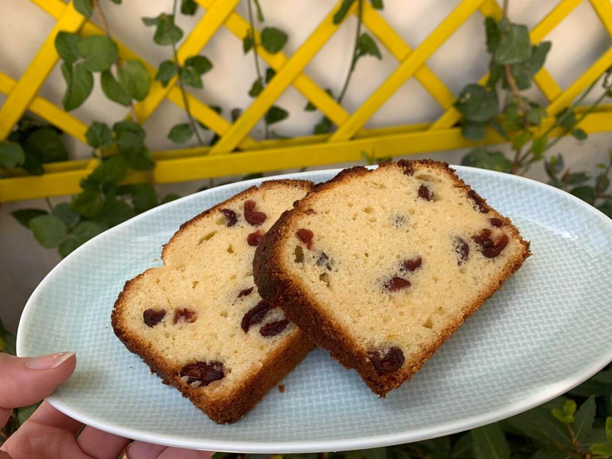Lemon & Cranberry Pound Cake