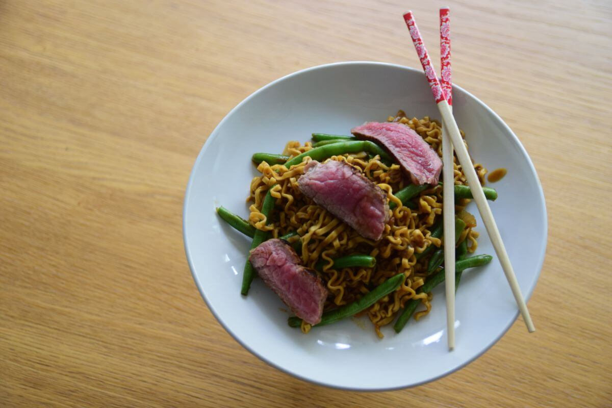 Steak & Sesame Noodle Stir-Fry